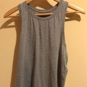 Lululemon all tied up heather grey tank